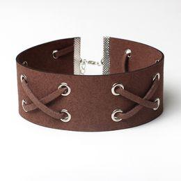 Wholesale Lace Agates - Cheap wholesale ladies fashion necklace chain necklace collar lace clavicle punk collar 5 color personality