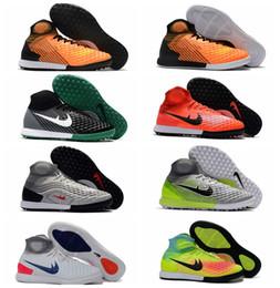 Wholesale Up Futbol - 2018 original MagistaX Proximo II IC mens soccer shoes indoor soccer cleats Magista Obra high ankle football boots men botas de futbol Blue