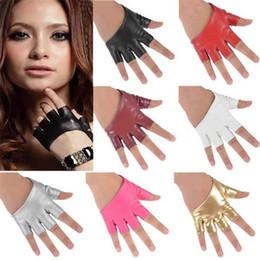 Мода половина палец PU кожаные перчатки Ladys пальцев вождения ночной клуб Полюс танцевальное шоу перчатки завод Оптовая от