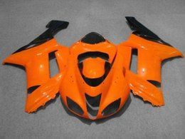 Wholesale Kawasaki 636 Fairings Set - Motorcycle Fairing kit for KAWASAKI Ninja ZX6R 07 08 ZX6R 636 2007 -2008 Fashion orange black ABS Fairings set