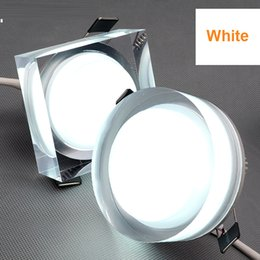 Wholesale Led 1w Crystal Light - Crystal LED down light Dimmable 1w 3w 5w 7w led ceiling spot downlight AC85-265V lights recessed ceiling lights for indoor decoration
