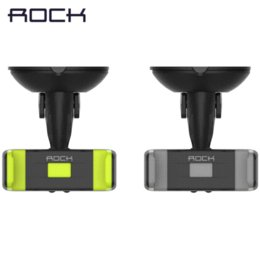 Wholesale Abs Gps - ROCK Car Mount Phone Holder TabPow Green Dashboard Windshield Car Mount 360 Degrees Rotating Cell Phone Holder ABS phone stand