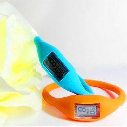 Wholesale Health Anion Wrist - Anion Health Sports Wrist Watch Digital Bracelet Unisex Men Women Silicon Rubber Jelly Ion Watch Healthy Digital Casual Led Wristwatches Hot