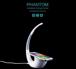 Wholesale Uk Tables - Nillkin Outlets High-technology Wireless Charger Phantom Table Lamp Wireless Life Infinite Freedom Eyecare Phone Power Charger for iphone 7