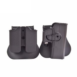 Wholesale Holster Polymer - Polymer Retention Roto Holster for Glock 19 23 25 28 32 - Right Handed Gen 4 Compatible and Double magazine Pouch 9 40 black