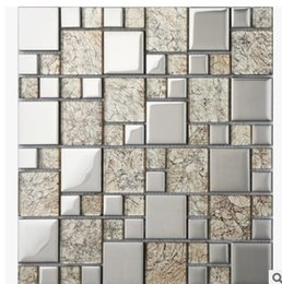 Wholesale Building Wall Tile - Simple fashion silver mosaic background wall Chinese modern living room bathroom kitchen ceramic tile decoration building materials