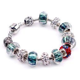 Wholesale Silver Snake Bracelets Wholesale - Pandora Charms 925 Sterling Silver Bracelets Glass&Crystal European Charm Beads Fits Charm bracelets Style Bracelets 2016 New Style