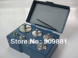 Wholesale Digital Scale Calibration Weight Set - Calibration Weight Set 200g 100g 50g 20g 10g 5g 7PCS Set Grams Precision Calibration Jewelry Scale Weight Sets Total 500g