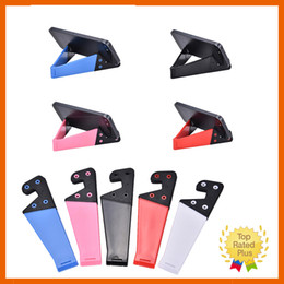 Wholesale Tablet Gps Ipad - Foldable Mobile CellPhone Stand Holder Car Holders Travel Portable For Smartphone Tablet iPhone Samsung iPad High Quality