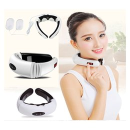 Wholesale Neck Cervical Vertebra Massager - Electric pulse Wireless Remote Control Neck massager Impulse Cervical Vertebra Treatment full body massage Acupuncture magnetic therapy