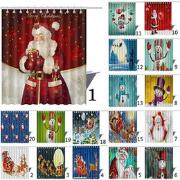 Wholesale Wholesale Curtain Fabric - Shower Curtain Halloween Christmas Waterproof Mildew Resistant Fabric Polyester Shower Curtain 150X180cm 46 Styles Curtain 50pcs OOA3129