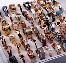Wholesale Bulk Bands - New Fashion 100PCs Lot MENS WOMENS STAINLESS STEEL Mix Bulk Jewelry Rings Wholesale Lots free ship
