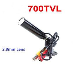 Wholesale Ccd Bullet Cameras - 700TVL 1 3 Sony CCD 960H 2.8mm Lens Mini Bullet Hidden CCTV Camera With Bracket