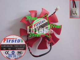 Wholesale Free Graphic Lines - Free Shipping New XFX HD6850 HD4860 FirstD FD8015U12S graphics video card fan DC12V 0.5A 2-Pin Line length 15CM
