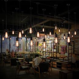 Wholesale Pendant Store - New arrivals Retro Iron Pendant Light Loft Lamps E27 Birdcage LED Industrial Pendant Lights Hanging Lamp Fixture Bar Cafe Restaurant Store
