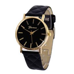 Wholesale Divers Woman - 2016 Geneva Watch Women Fashion Quartz Watches Leather Women Casual Dress Wristwatches relogios feminino relojes Wholesale