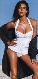 Wholesale Cheap Bathing Suits Tops - newest Cheap Wholesale Sexy Black halter top Lace swimwear women's one piece swimsuit White Bathing Suit vintage bandage Bikini