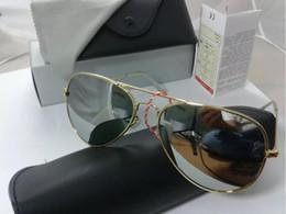 Wholesale Sunglasses Polarized Male - High Quality Brand Designer reflect Polarized Sun Glasses Driving Male Fashion Men 58MM Sunglasses Eyewear Pilot With Box and Case