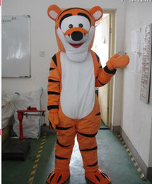 Wholesale Deluxe Tiger Costume - Real Pictures Deluxe Tiger Mascot Costume ,Halloween Party Children Fancy dress ,factory direct,f Costume Best Occupational Unisex Real Pict