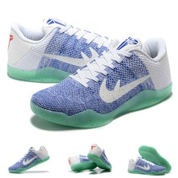 Wholesale Total Rubber - (With shoes Box) Kobe 11 XI EM Elite Low white blue Sunset Total Crimson Black Gold 836183-805 Men Basketball Sport Sneakers Shoes