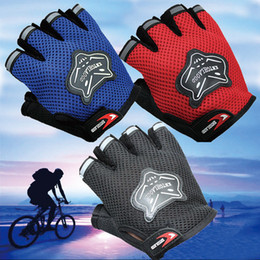 Wholesale Fox Bicycle - Fox Head Bicycle Cycling Gloves Half Finger Racing Mountain Road Bike Gloves For Men ST204 10pair