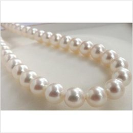 "Wholesale 14kt Heart Pendant - pretty ashion AAA 10-11mm south sea white pearl necklace 18"" 14KT"