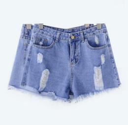Wholesale Women Jeans Holes Cheap - New arrival 2016 summer short jeans fashion blue sport shorts cheap-clothes-china hole short XMYN 3693