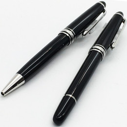 Wholesale Rollerball Ballpoint Pen - Luxury Pen #163 Classique Black Resin ballpoint pen , office suppliers mb rollerball pen with serial number 0.7mm refill