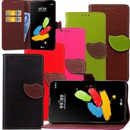 caixa da carteira lg g Desconto Carteira de couro bolsa case para lg ls775 stylus 2 g stylo ray k4 nota samsung galaxy s9 mais j1 mini folha suporte lichia cinta cartão da pele cobrir
