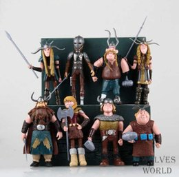 Wholesale Toys Trains Set - 8pcs set 10-13cm How to Train Your Dragon 2 Figurines PVC Action Figures Classic Toys Kids Gift For Boys Girls Children