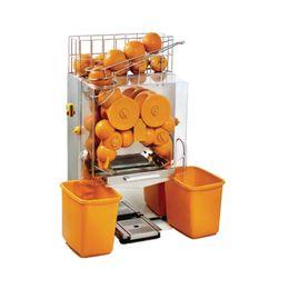 Wholesale automatic juice machine - 220v 110v Commercial manual Feed Automatic Fresh Fruit Lemon Orange Juice Squeezer Extractor Dispenser Juice Machine