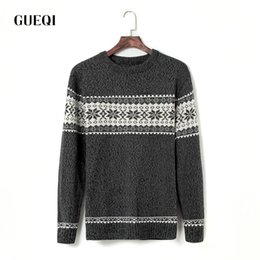 Wholesale Reindeer Christmas Sweater - Wholesale-New Christmas Reindeer Men Knitting Sweaters Pullover Man Fashion Long Sleeve O-neck Knitted Sweater Casual Pulllovers 9004