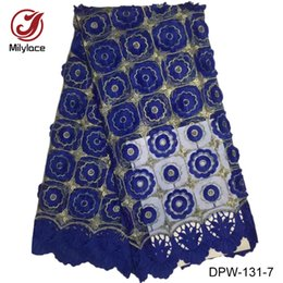 Wholesale African Dresses For Sale - Hot sale 2017 latest African lace fabric with beautiful flowers guinea style French lace fabric for women dress DPW-131