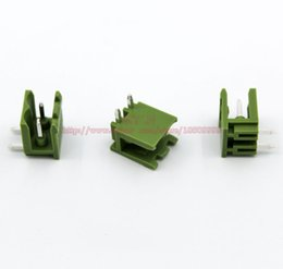 Wholesale Electrical Plug 2pin Connector - (20sets lot) PCB Screw Terminal Block Connector KF2EDGK 2Pin and 90 Degree Pin Header pitch:5.08MM 0.2inch Green 10A 300V 2P