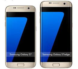 Wholesale Original Galaxy - Samsung Galaxy S7  s7 edge Octa Core Mobile phone 16 MP Camera android 6.0 4GB 32GB original refurbished phone