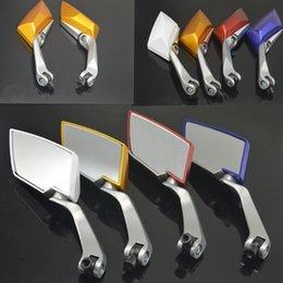 Spiegel für roller online-Universalmotor-Rückspiegel-Roller zerteilt Motorrad-Zusätze für GSX650F TL1000R GSXR600 750 ZX10R FZ8 CBR600 Z1000 ZX9R