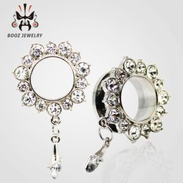 Wholesale Designed Body Jewelry - 2016 new hot selling design fashion stainless steel ear plugs body jewelry tunnels piercing ear gauges free shipping