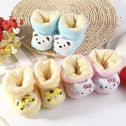 Wholesale Bear Hello - winter warm baby cotton shoes 0-6 months newborn infant hello kitty bear boots