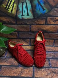 Wholesale B Production - 2016 new Arrival Low to help couples casual shoes,red shoes,Deerskin production,,women size:35-41 men size:38-46