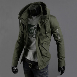 Wholesale Spring Military Jacket Men - 2016 Men's Fashion Brand Military Jacket Army Design Casual Zipper Jackets Spring Autumn Quality Men Slim Fit Coats Plus Size