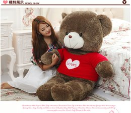 Wholesale Large Bear Stuffed Animal - 2016 new Large 1.6 Meters sounding Teddy Bear Lovers Big bear Arms Stuffed Animals Toys Plush Doll retails Valentine's gift new Year's gift