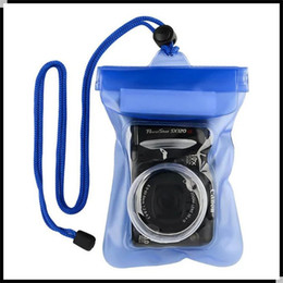 Wholesale Vinyl Bags Wholesale - For Digital Camera Waterproof Bag 6.5*4.5 Inch Underwater Dry Pouch Bag Cases Cover With Convex Lens Cases DHL Free Shipping