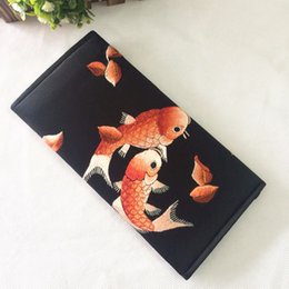 Wholesale Slim Wallet Lady - Luxury Wallet Women Wallet Silk Made Embroidery By Hand-made New Vintage Wallet Money Purse Wallet Fashion Wallet Card Clutch Slim Coin Hold