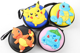 Wholesale Earphones Kawaii - Christmas gifts Women Kawaii Animals Cartoon bag POKE pikachu Coin Purse Key kids Girls Wallet Earphone Organizer Box Bags ZJ-56