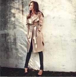 Wholesale Spring Trench Coats For Women - Hot sale 2016 Spring Autumn Brand Casual Trench coat for women Plus Size Long Double Slim Windbreaker Outerwear Coats