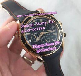 Wholesale Ocean Roses - Luxury Mens Chronograph Quartz Watches Men's Rose Gold Watch Co Chronometer Axial Men Ocean Rubber Sport Wristwatches