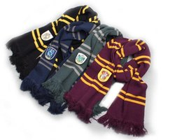 Wholesale Harry Potter Gifts - Gift Fashion Harry Potter Scarves Ravenclaw Scarf Accessories Gryffindor Scarf Magic School Slytherin Scarves