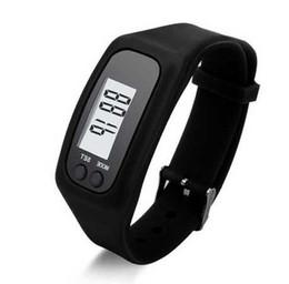 Argentina 2017 Moda Casual Digital LCD podómetro correr paso a pie distancia calorías contador reloj pulsera hombres mujeres deportes Led relojes 10 colores Suministro