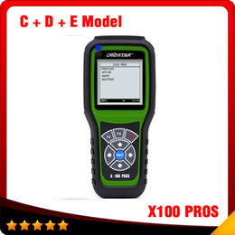 Wholesale Chrysler Key - 2016 Top selling OBDStar Auto Key Programmer X100 PROS C + D +E model x-100 pros Odometer correction tool free shipping