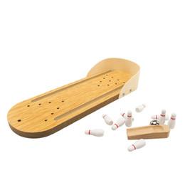 Mini bowling en bois, jeux de bureau interactifs parents-enfants, décompression de loisirs, jouets éducatifs pour enfants ? partir de fabricateur